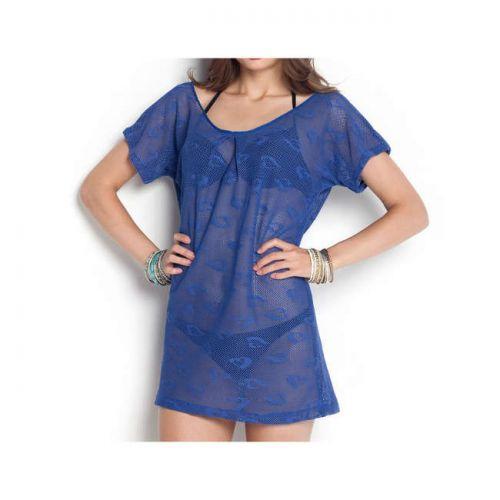 Φόρεμα δίχτυ μίνι με κοντό μανίκι Reef code