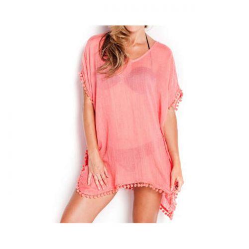Φόρεμα κοντό με διακοσμητικά pon-pom