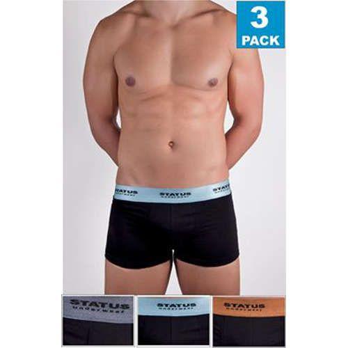 Boxer ανδρικό Status 3 τεμαχίων κολλητό βαμβακολύκρα