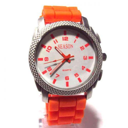 Ρολόι Unisex Season Time Πορτοκαλί 44mm