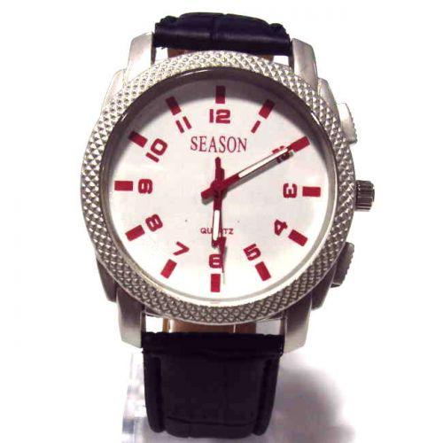 Ρολόι Unisex Season Time Μαύρο 44mm