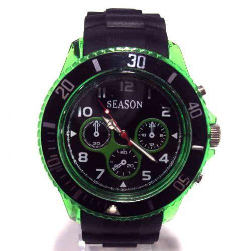 Ρολόι Unisex Season Time Μαύρο - Λαχανί 44mm