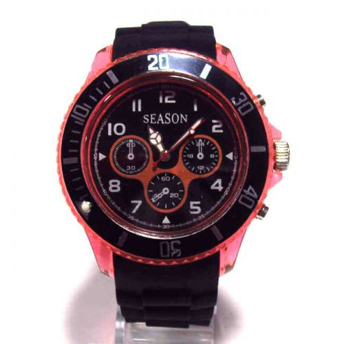 Ρολόι Unisex Season Time Series Μαύρο - Πορτοκαλί 44mm