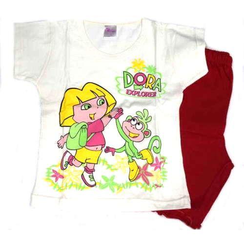 Πυτζάμα Dora κοντομάνικη βαμβακερή