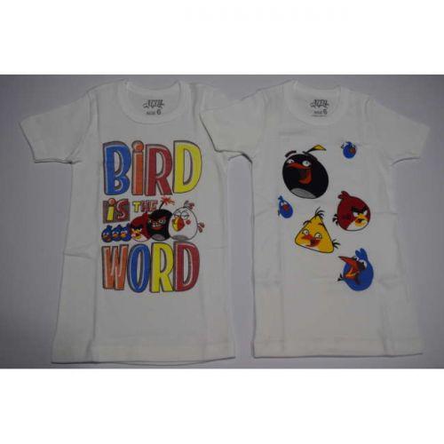 Φανέλα με κοντό μανίκι για αγόρια Angry Birds 2 τεμαχίων