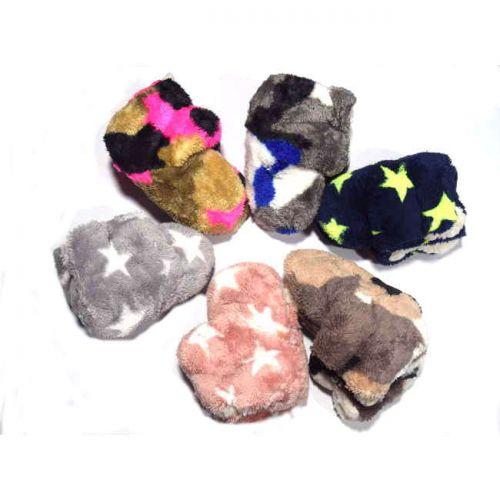 Παντόφλα - μπότα παιδική με γουνάκι σε διάφορα χρώματα