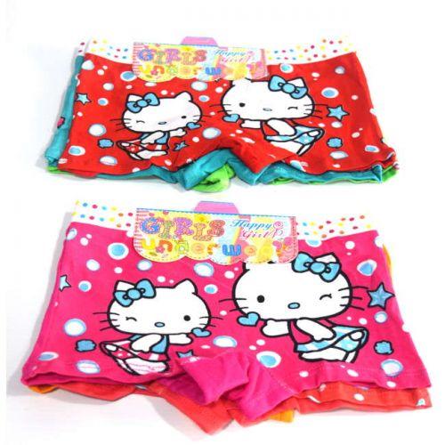 Boxer κολλητό παιδικό 3 τεμάχια Hello Kitty