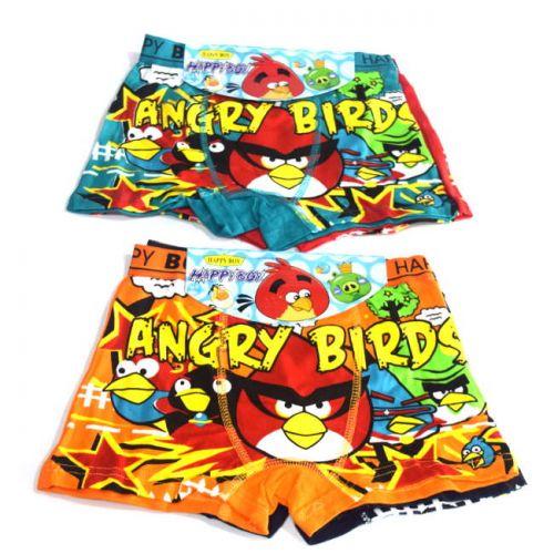 Boxer κολλητό παιδικό 2 τεμάχια Angry Birds Happy Boy