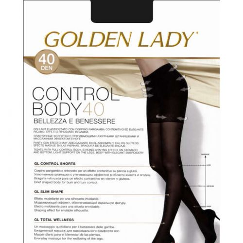 Καλσόν Control Body 40 της Golden Lady με λαστέξ σε Μαύρο