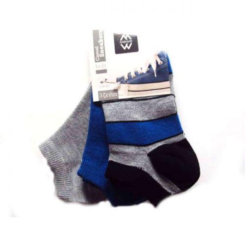 Κάλτσες παιδικές σοσόνι 3 ζεύγη MeWe