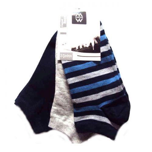 Κάλτσες ανδρικές σοσόνι 3 ζεύγη MeWe