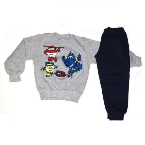 Φόρμα παιδική για αγόρι Super wings βαμβακερή
