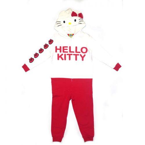 Πυτζάμα ολόσωμη παιδική βαμβακερή Hello Kitty