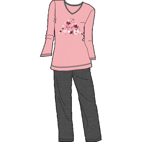 Πυτζάμα γυναικεία Billy βαμβακερή