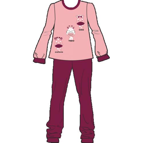 Πυτζάμα παιδική - εφηβική κορίτσι Natura βαμβακερή