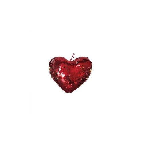 Καρδιά με πούλιες κόκκινο-χρυσο 20cm
