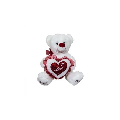 Αρκουδάκι λούτρινο με καρδιά 35cm