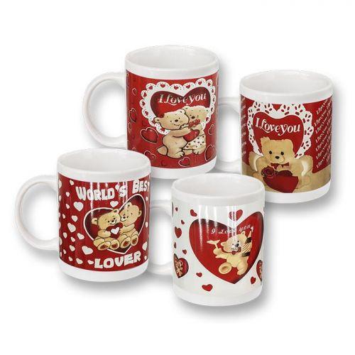 Κούπα  για καφέ με καρδιές 330ml
