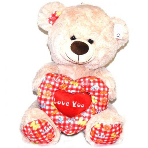 Αρκουδος λούτρινο με καρδιά 40cm