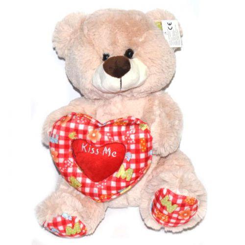 Αρκουδος λούτρινο με καρδιά 30cm