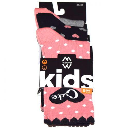 Κάλτσες παιδικές κορίτσι 3 ζεύγη Me we