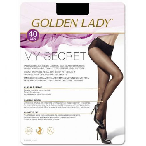 Καλσόν My Secret 40 της Golden Lady σε Μαύρο